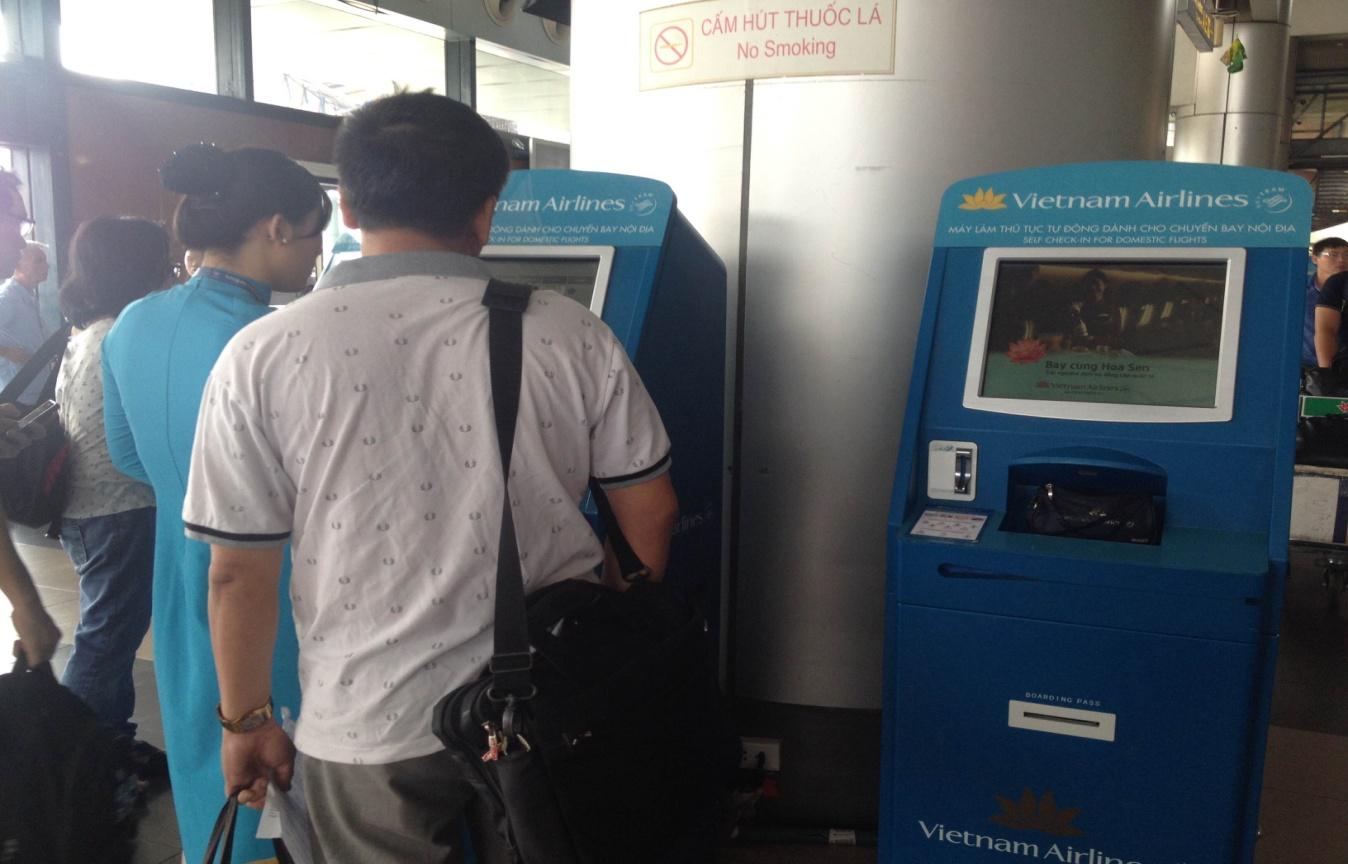 máy checkin tự động